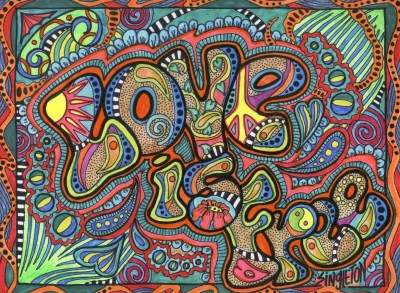 psychedelic, Typography, Love, Hippie, Colorful, Drawing Wallpapers HD / Desktop and Mobile ...