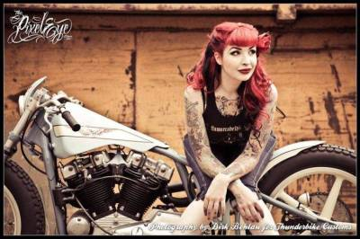 motorcycle, Pinup Models Wallpapers HD / Desktop and Mobile Backgrounds