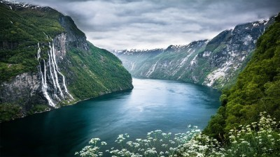 nature, Landscape, Mountain, River, Waterfall, Norway Wallpapers HD / Desktop and Mobile Backgrounds