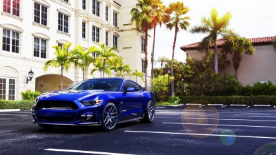 car, Ford Mustang, Blue Cars, Palm Trees Wallpapers HD / Desktop and Mobile Backgrounds