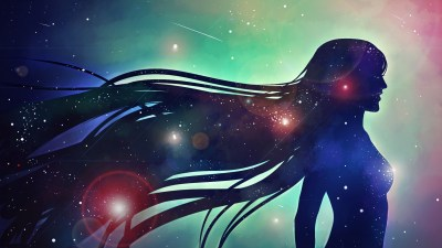 artwork, Women, Galaxy, Stars, Digital Art Wallpapers HD / Desktop and Mobile Backgrounds