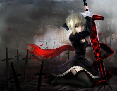 women, Anime, Saber Alter, Fate Series, Sexy Anime Wallpapers HD / Desktop and Mobile Backgrounds