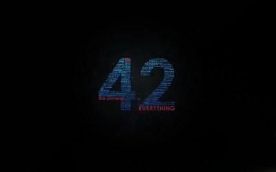 42, Universe, Douglas Adams, Typography, Word Clouds, Minimalism Wallpapers HD / Desktop and ...