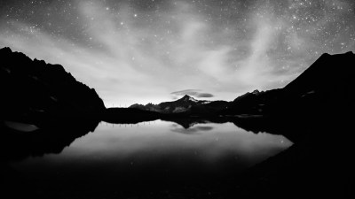 photography, Monochrome, Water, Night, Lake, Reflection, Landscape Wallpapers HD / Desktop and ...