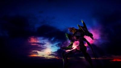 Neon Genesis Evangelion, EVA Unit 01, Clouds, Sky, Anime Wallpapers HD / Desktop and Mobile ...