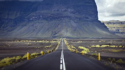 road, Alone, Mountains, Photography, Landscape, Yellow, Iceland Wallpapers HD / Desktop and ...