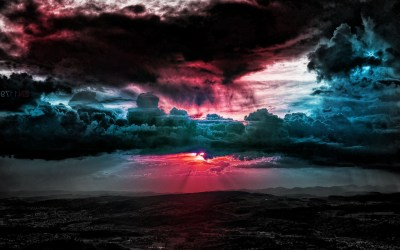 clouds, Sunset, Horizon, Pink, Photo manipulation, Sky, Field Wallpapers HD / Desktop and Mobile ...