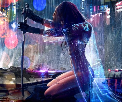 women, Warrior, Artwork, Sword, Rain, Cyberpunk, Cyberpunk 2077 Wallpapers HD / Desktop and ...