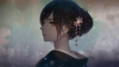 digital art, Anime girls, Yukata Wallpapers HD / Desktop and Mobile Backgrounds