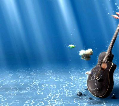 guitar, Underwater Wallpapers HD / Desktop and Mobile Backgrounds