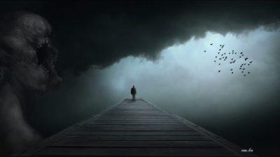 dark, Black, Bridge, Monster inside Wallpapers HD / Desktop and Mobile Backgrounds