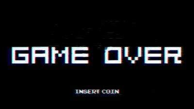 arcade, GAME OVER, Video games, Simple, Chromatic aberration, Typography Wallpapers HD / Desktop ...