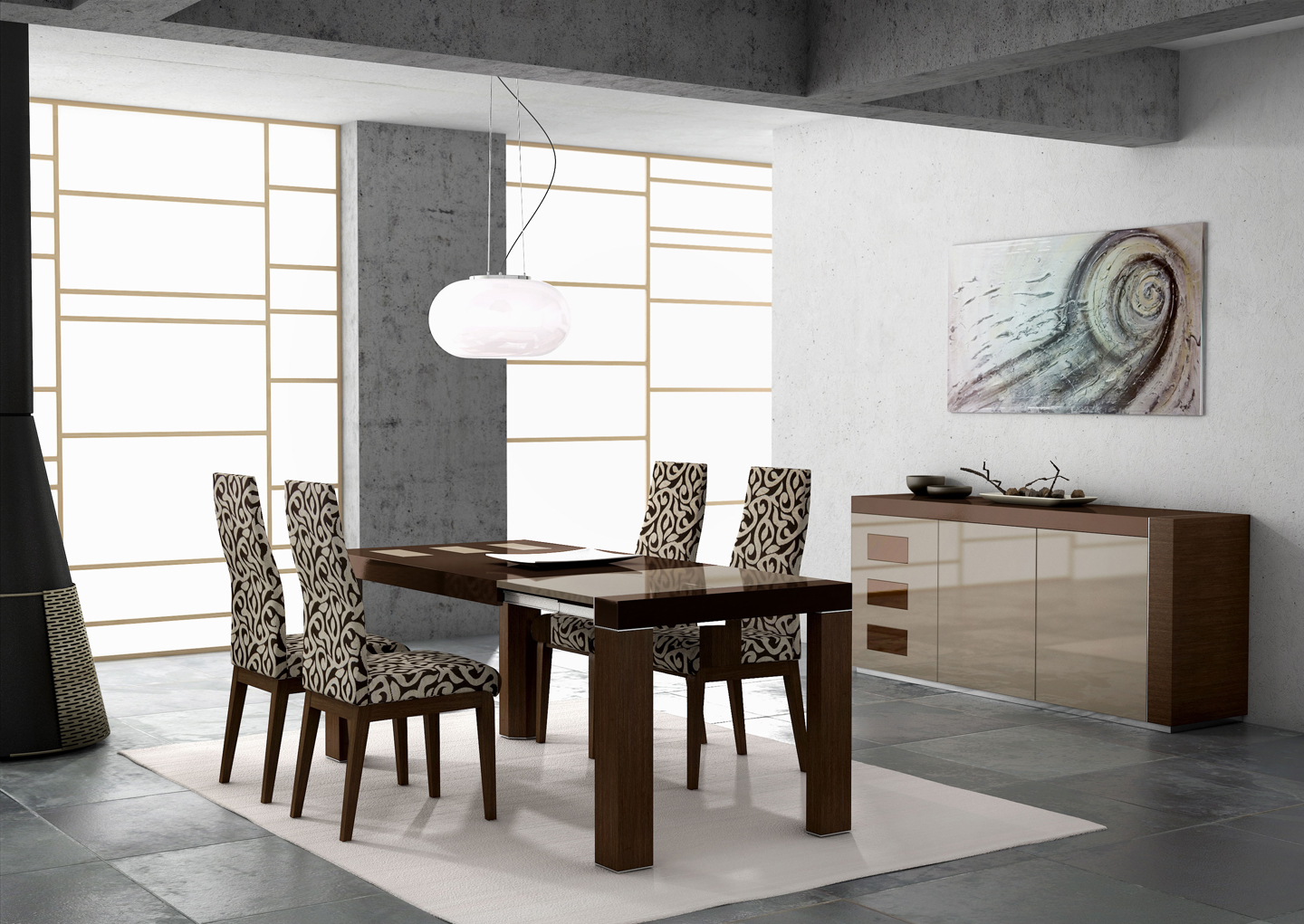 modern dining table modern kitchen table sets restaurant table lamps photo 3