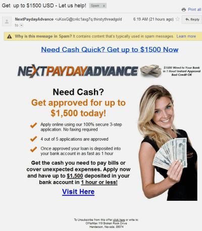 Scam alert: Online payday loan, lenders