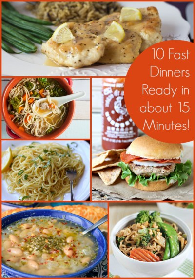 10 Fast Dinner Recipes Ready in about 15 Minutes - The Weary Chef