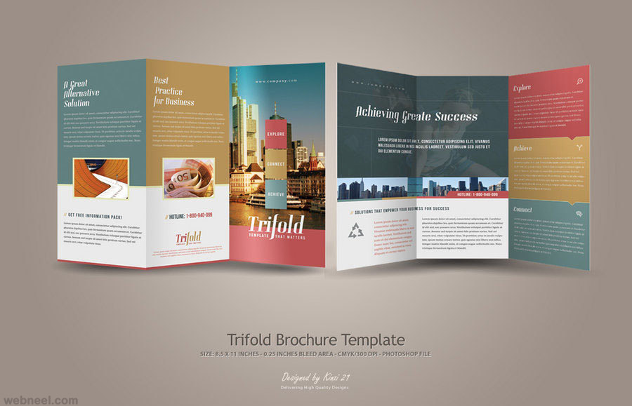 creative trifold brochure design 23   Full Image creative trifold brochure design