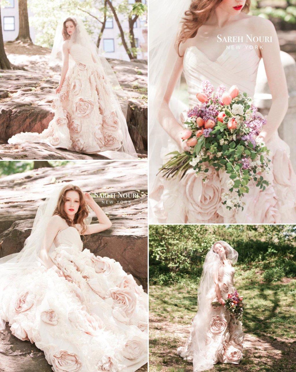 light pink romantic wedding dress 2 light pink wedding dress