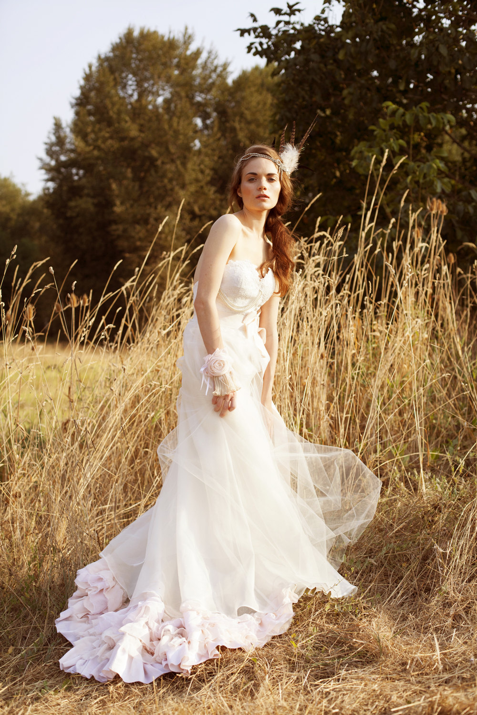 bohemian tulle light pink wedding dress light pink wedding dress Bohemian Tulle Light Pink Wedding Dress