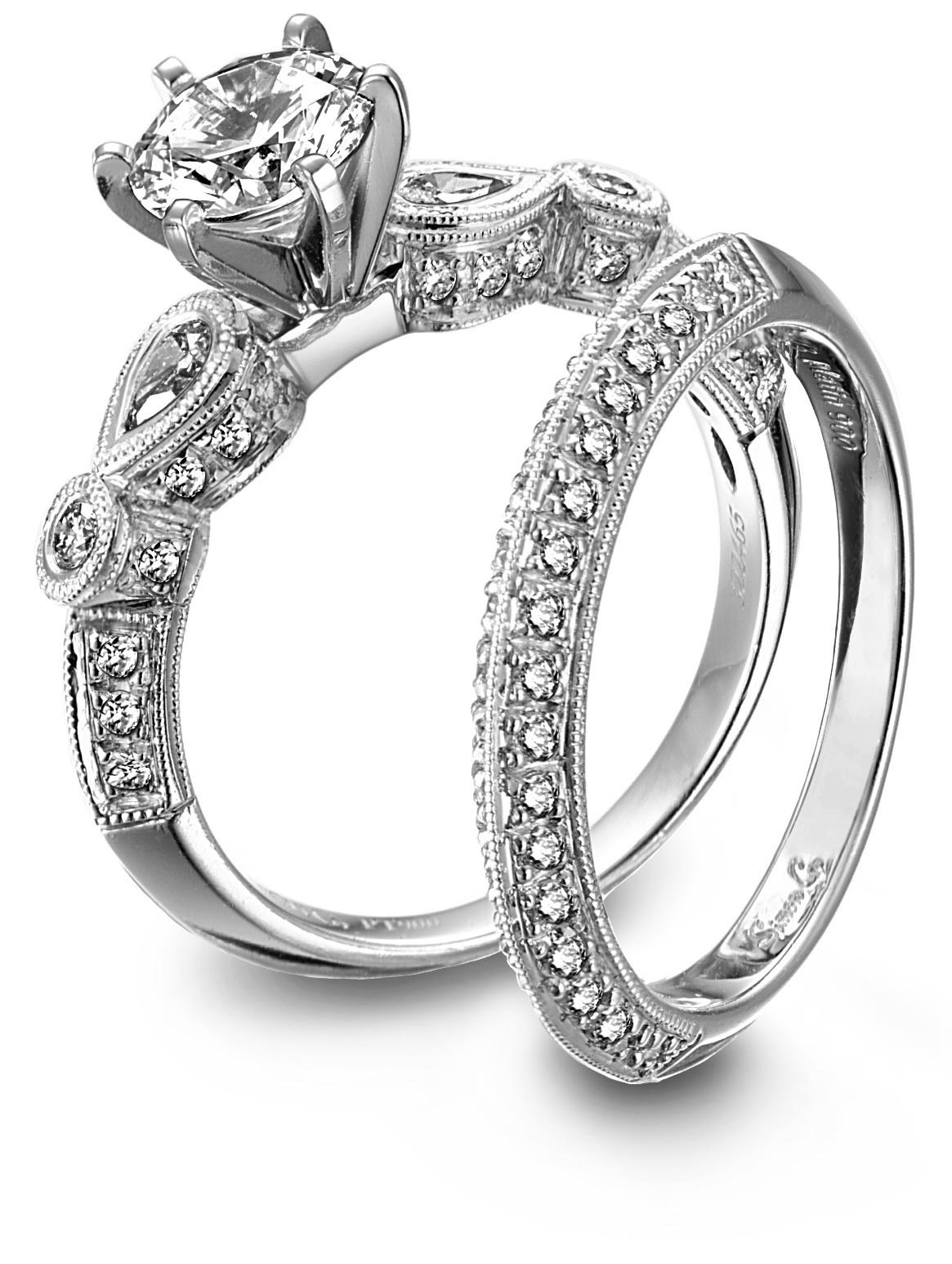 engagement rings with wedding band set wedding ring with band Diamond Engagement Ring And Wedding Band Set rusticsharabookscom