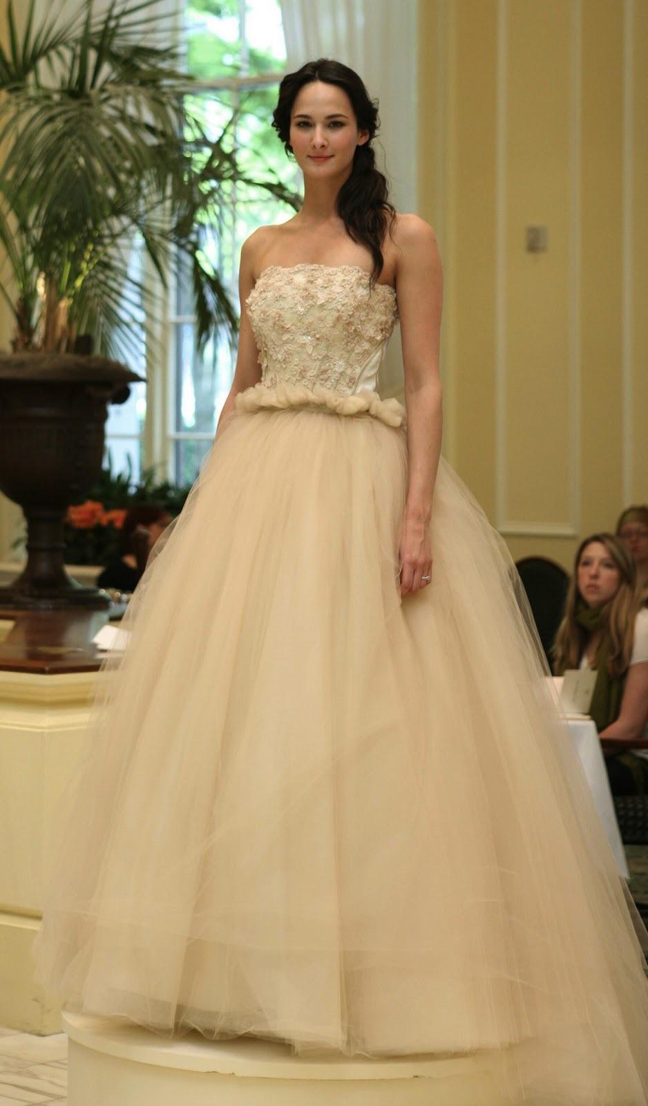 beige romantic tulle ballgown wedding dress beige wedding dresses Beige romantic tulle ballgown wedding dress