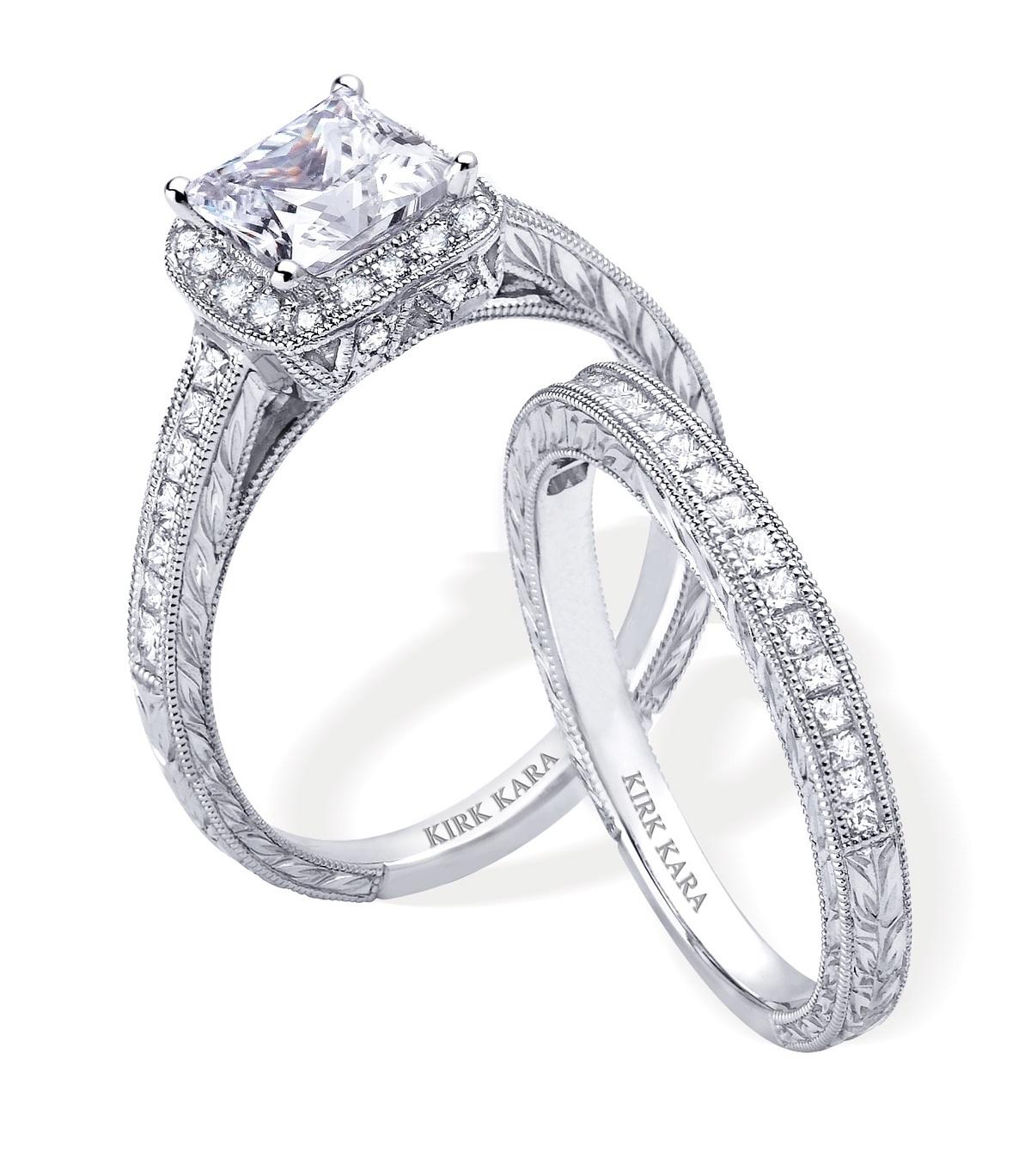 engagement rings and wedding band sets affordable wedding rings Diamond Engagement Ring And Wedding Band Set By Kirk Kara