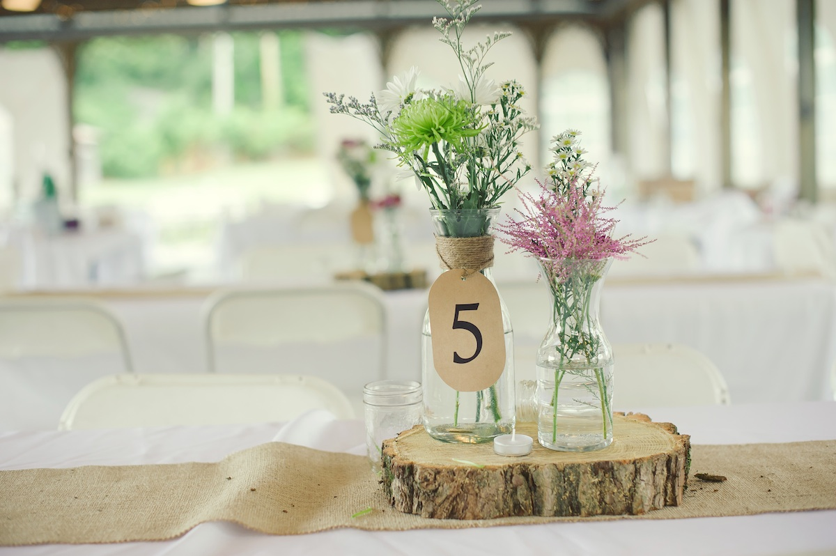 simple wedding centerpieces rustic wedding centerpieces Photo Source One Wed