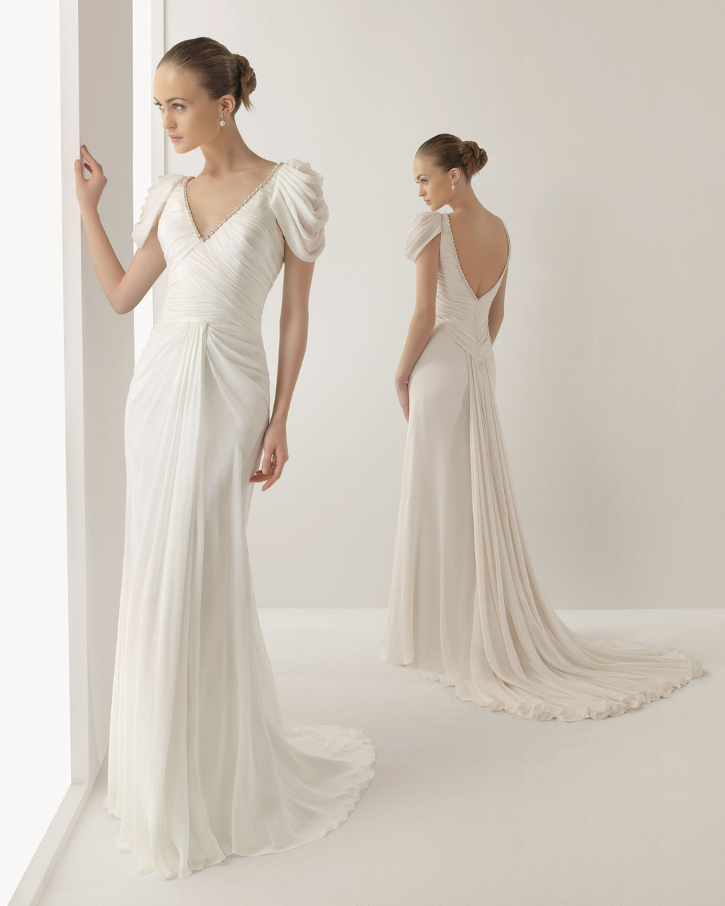 wedding dress soft by rosa clara bridal gowns jade 2 grecian wedding dress