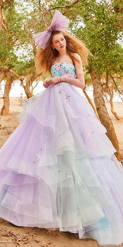 ball-gown-ruffled-skirt-ombre-purple-color-tiglily-2018 ...