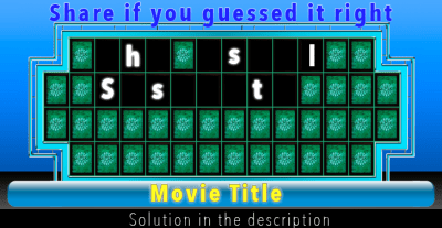 Wheel of fortune - Movie Title solution
