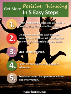 More Positive Thinking In 5 Steps