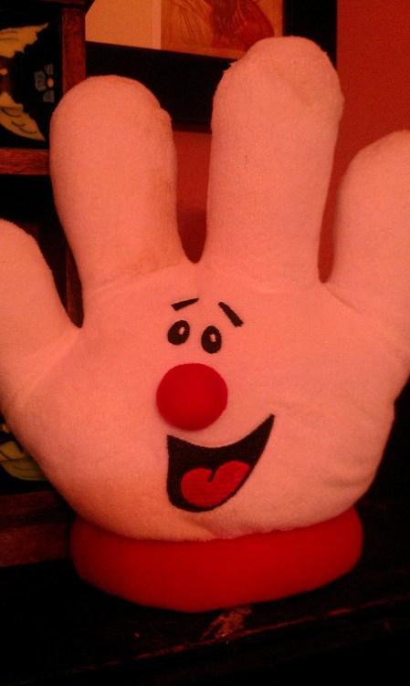 Hamburger Helper Hand Puppet