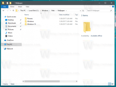 Where are Windows 10 Default Wallpapers Stored