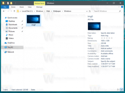 Where are Windows 10 Default Wallpapers Stored