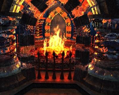 Download Crystal Fireplace 3D Screensaver 1.1 Build 11