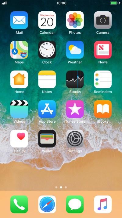 List of screen icons - Apple iPhone 6 Plus (iOS 11.0) - Telstra