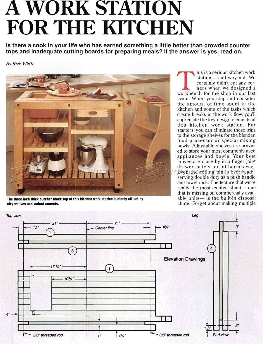 kitchen work table kitchen work table Kitchen Work Table Plans