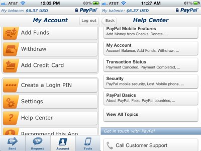 PayPal Mobile App Now Has Notification Alerts, Help Center, And More