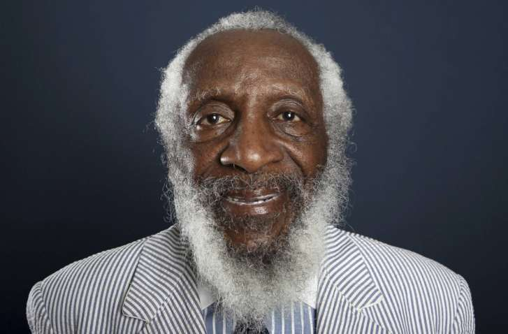Comedian  civil rights activist Dick Gregory dies at 84   WTOP Obit Dick Gregory 44197 FILE   In this July 21  2012 file photo  comedian  and activist Dick Gregory poses for a portrait during the PBS TCA Press  Tour in