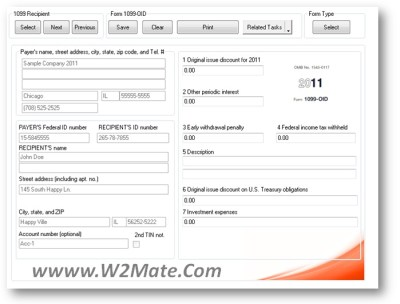 1099 MISC Form 2014: W2 Mate® 2014 Software Helps 1099 Filers Issue, E-File, Email and Correct ...