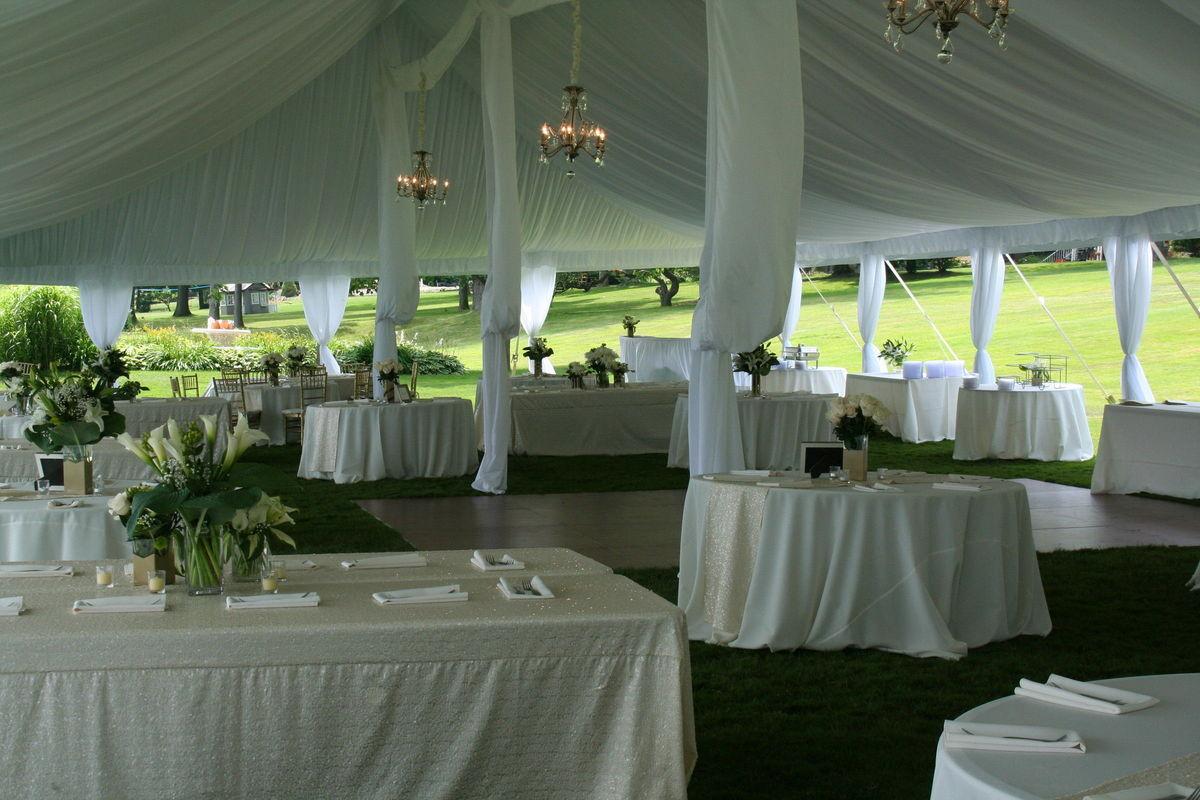 12 vendors wedding rental Wahl Tents