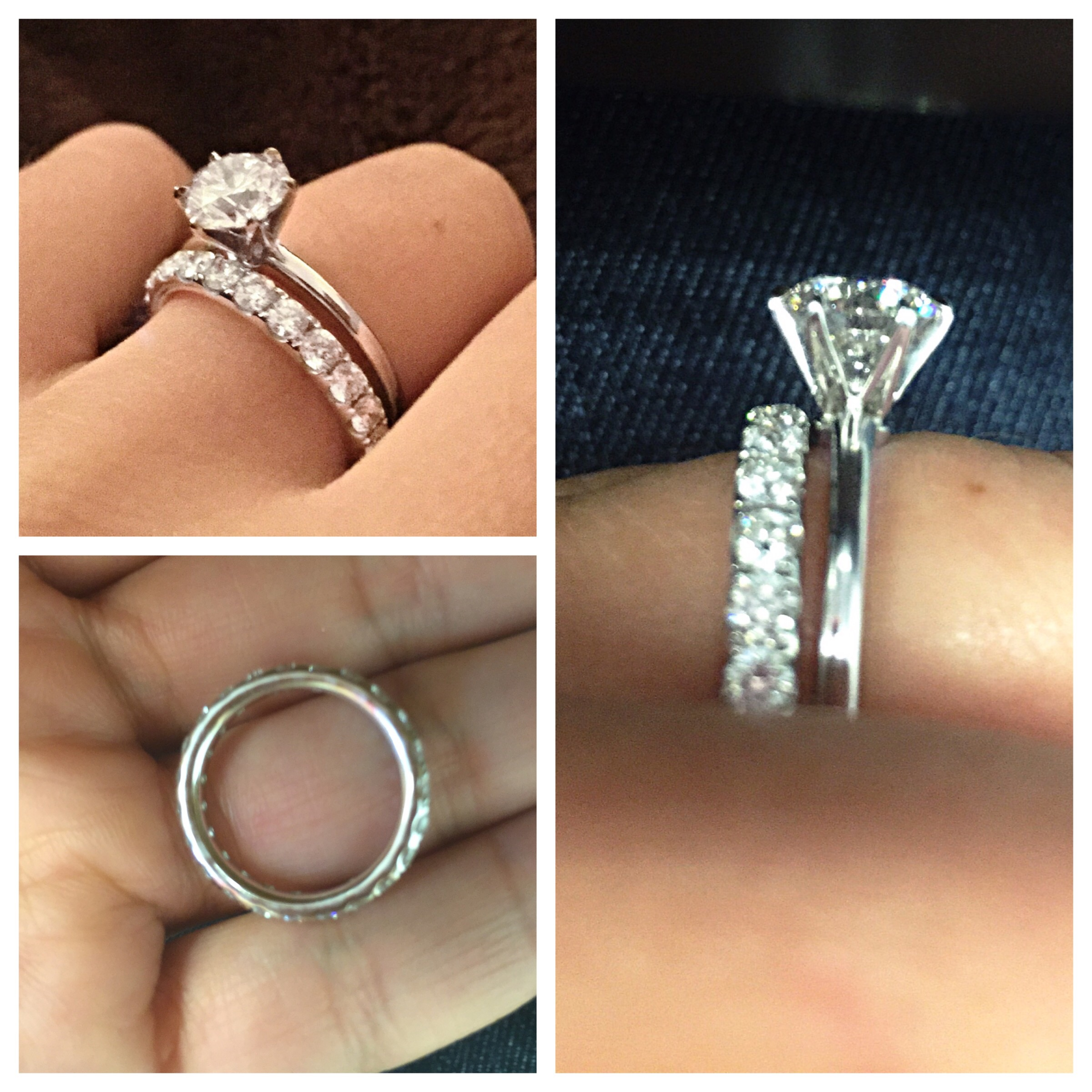 tiffany eternity wedding band alternatives damage low profile wedding ring I chose a 1 5 carat eternity pave band specifically for its extremely low profile that never touches the prongs