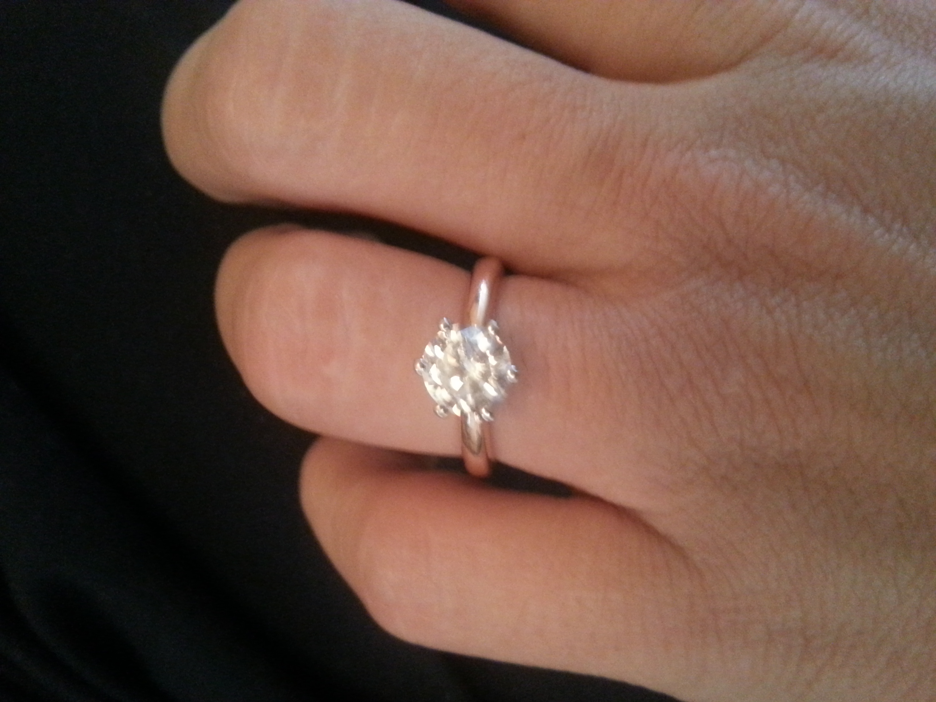 rose gold engagement ring or wedding band rose gold wedding rings This is my old engagement ring its a 14k rose gold solitaire with white gold prongs
