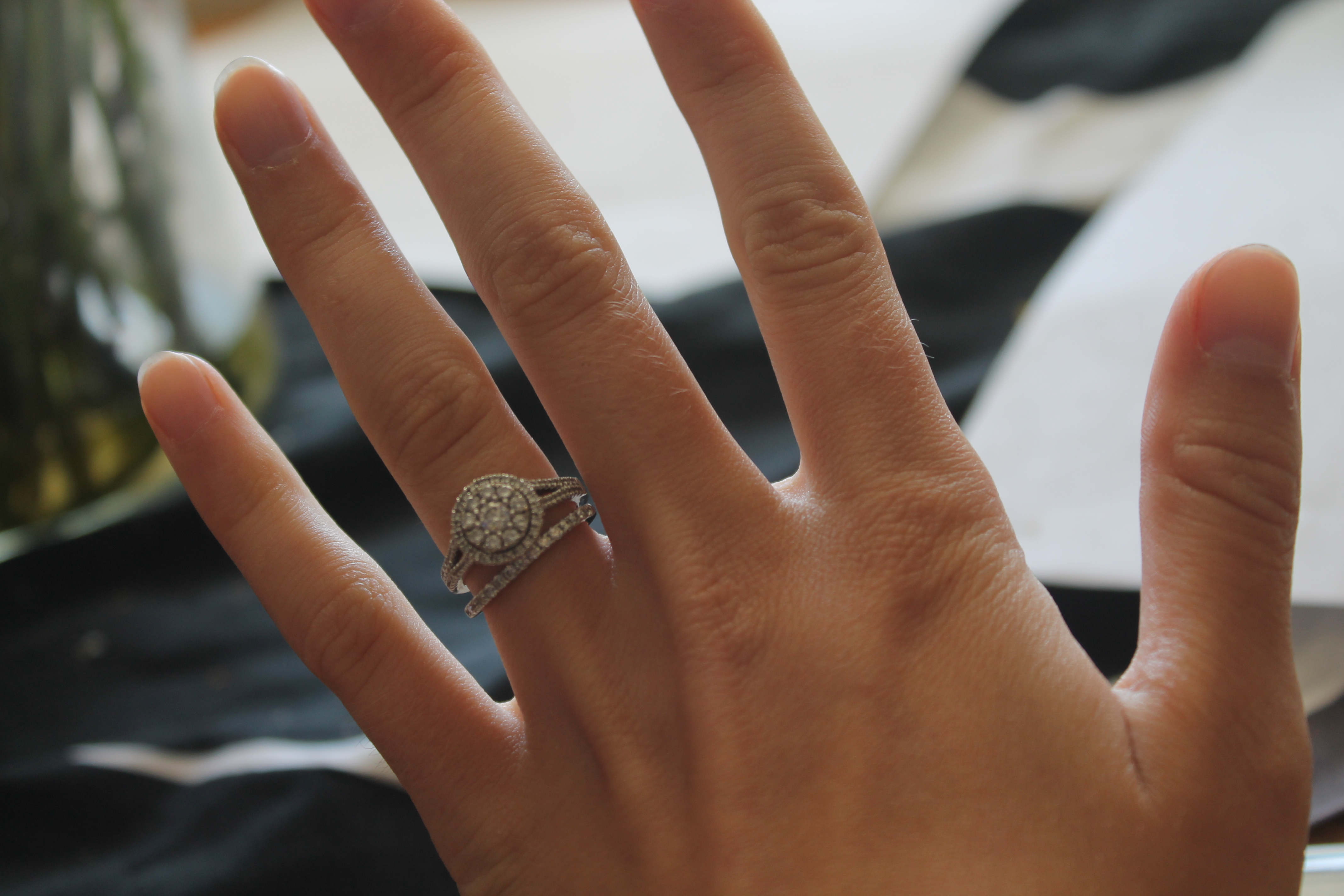 wedding and engagement rings that dont sit flush together wedding ring with band Wedding and engagement rings that don t sit flush together