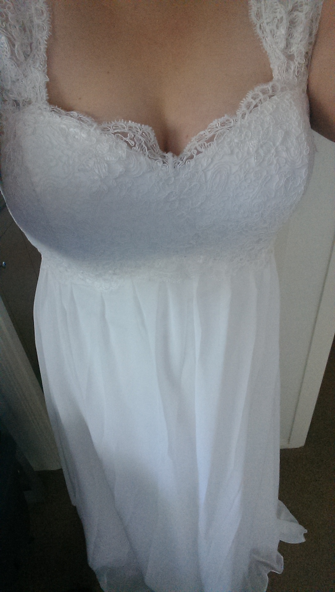 calling all ebay wedding dresses ebay wedding dress My dress is from China I ordered mine from eBay The dress was one they designed themselves it took under three weeks to make and arrive