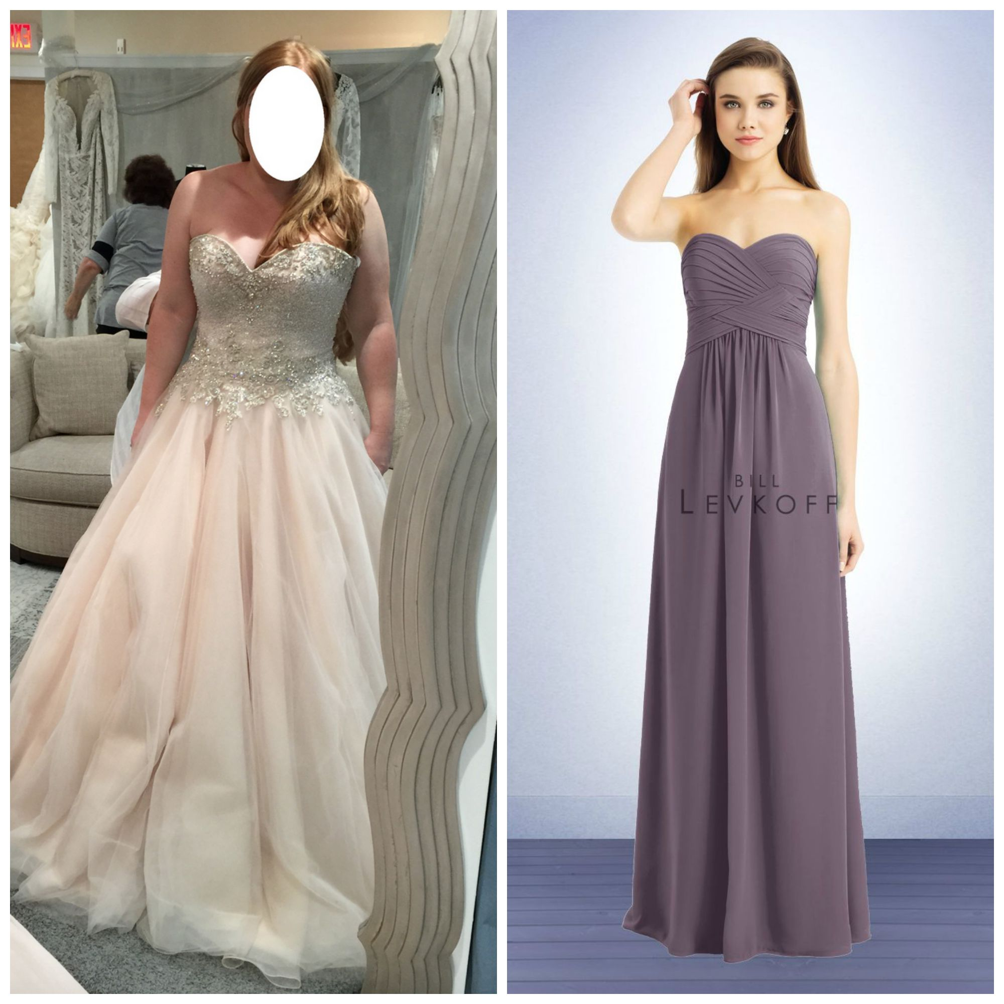 blush wedding dress what other colors to use lilac wedding dress http www billlevkoff com bridesmaid dresses