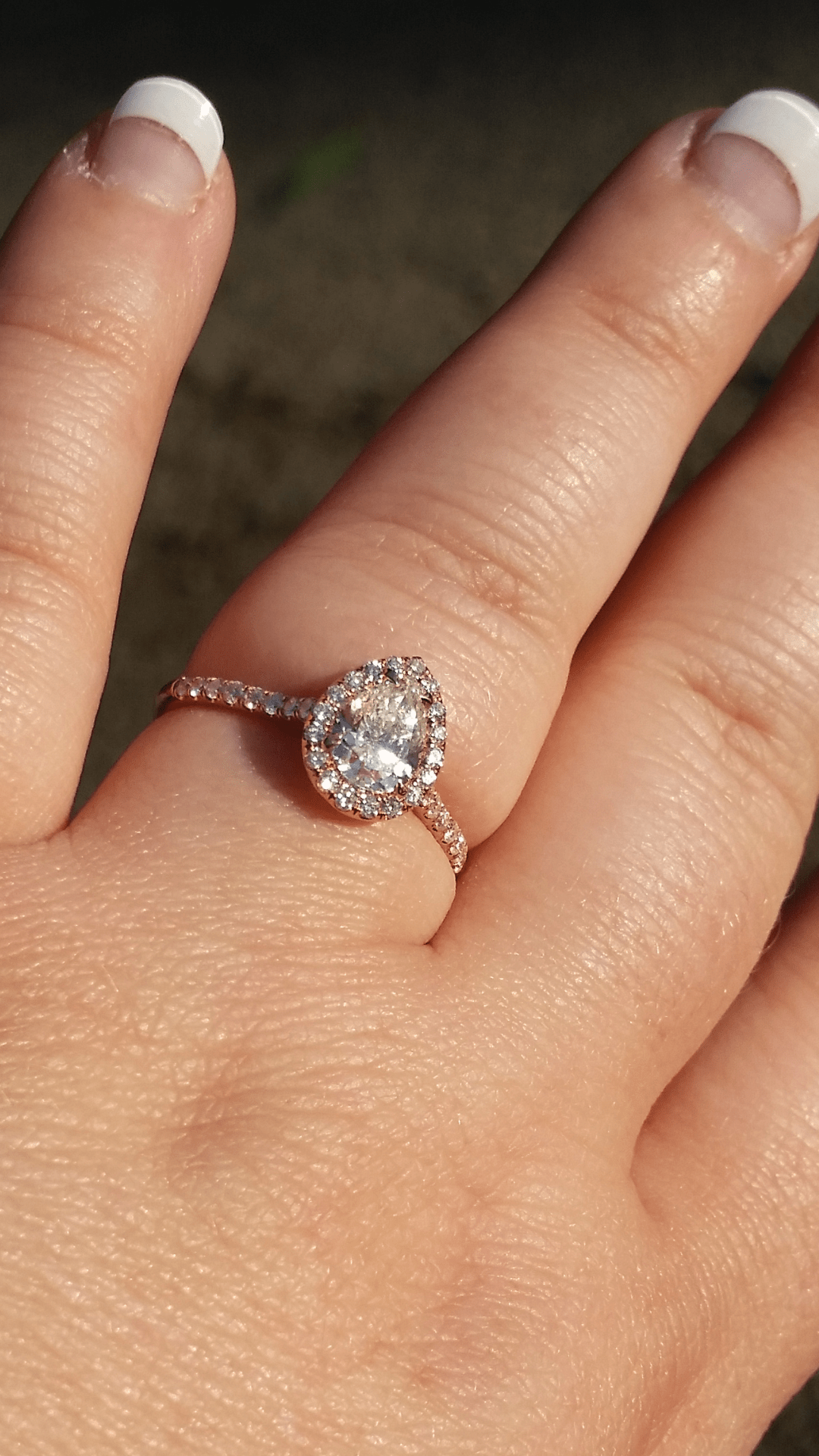what wedding band for with a pear shaped ring pear shaped wedding ring So now I m dreaming about what wedding band I will put with my beautiful pear shaped