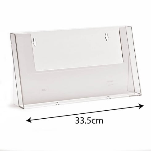 Brochure Holders   acrylic   PERSPEX     acrylic display equipment and     A4 landscape leaflet holder counter  brochure   leaflet holders