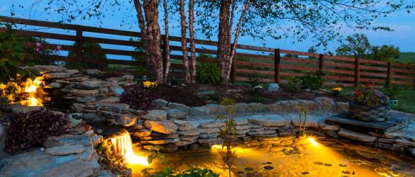 Garden Pond Lighting Ideas and The Benefits Of Using A Solar Water Pump In Your Garden - Modernize - Patio Home Decor
