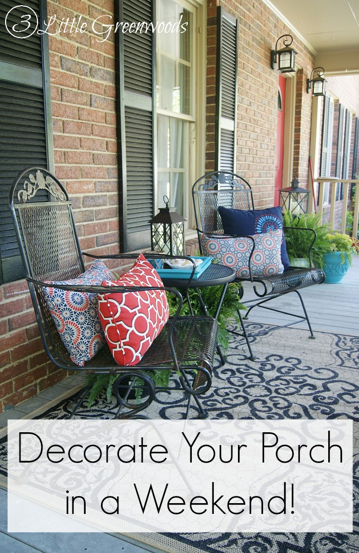 Front Porch Decorating Ideas for Summer   3 Little Greenwoods Front Porch Decorating Ideas for Summer