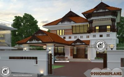 Nalukettu Plan And Estimate with Double Story Traditional ...